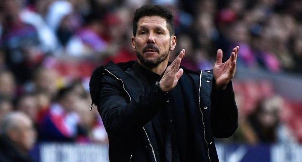 Diego Simeone, entrenador del Atlético de Madrid. (Foto: AFP)