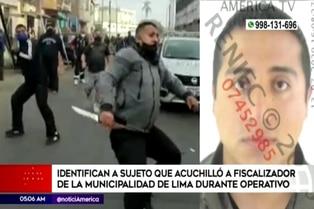 Policía identifica a sujeto que acuchilló a fiscalizador de la municipalidad de Lima