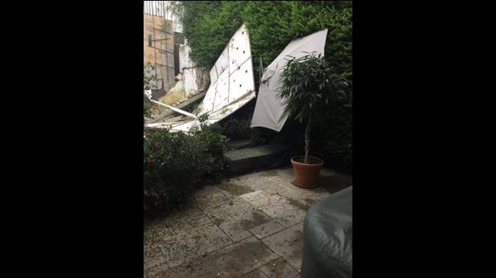 San Isidro: así acabó el jardín de esta casa tras caída de muro - 1