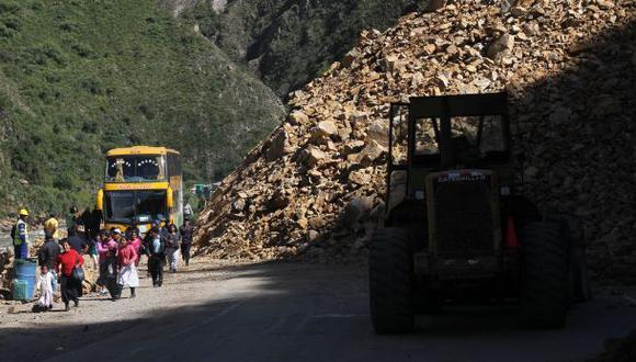 Vía Cusco - Quillabamba permanece bloqueada tras deslizamiento