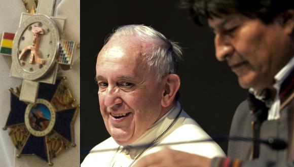 El Papa dejó en Bolivia las condecoraciones que le entregó Evo