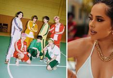 "Becky G celebra que BTS cantó en español algunos versos de ""Chicken Noodle Soup"" | VIDEO"