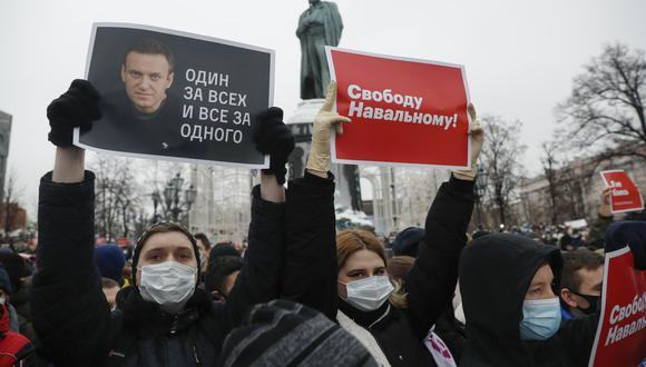 Una de las protestas que se llevaron a cabo hoy, sábado 23 de enero. AP