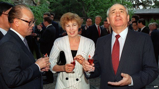 Soviet leader Mikhail Gorbachev visited China in May 1989, a challenging time for both communist states.