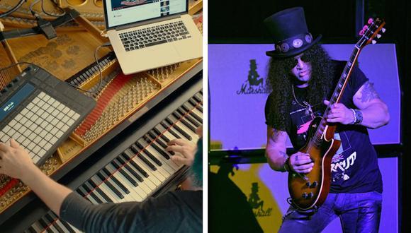 Este artista sorprendió a todos con sus conocimientos tecnológicos para fusionar su habilidad con el piano y su sueño de tocar la guitarra. (Foto: Ron Minis en YouTube/AFP)