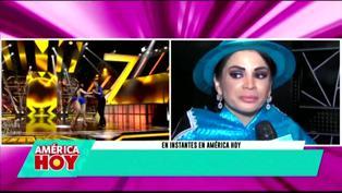 Leslie Moscoso molesta por perder contra Milena Zárate en reto de baile