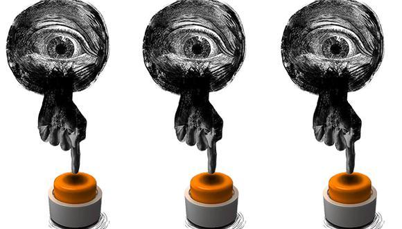"""""""El sistema político es el espacio en el que se producirán, inevitablemente, los efectos colaterales que deben medirse durante la evaluación de la suspensión [de Fuerza Popular]"""". (Ilustración: Giovanni Tazza)."""