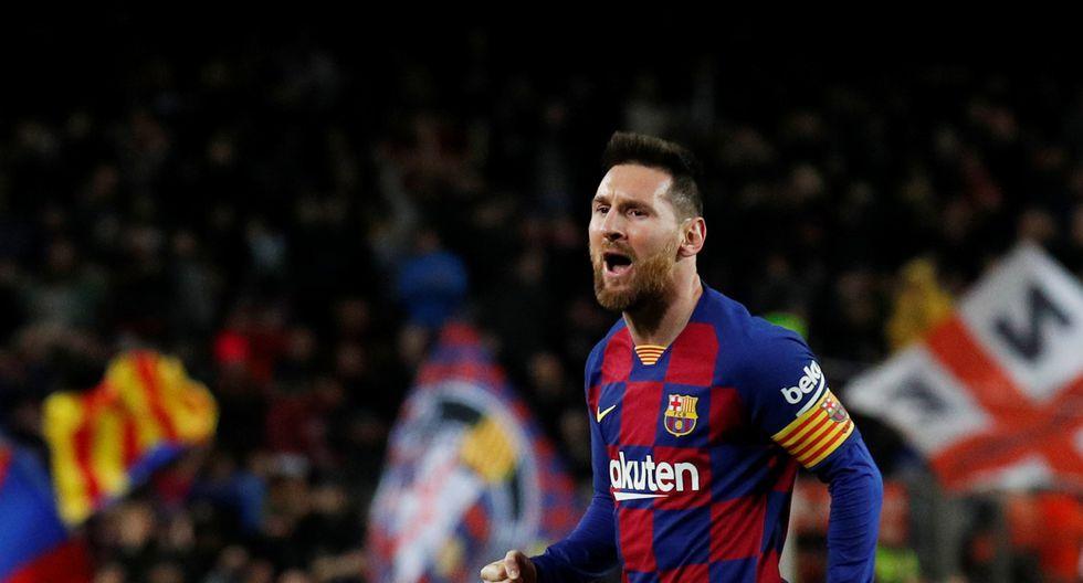 Lionel Messi convirtió el 3-1 con un gran tiro libre | Foto: Reuters