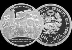 BCR emite moneda de plata alusiva al bicentenario de la Proclamación de la Independencia