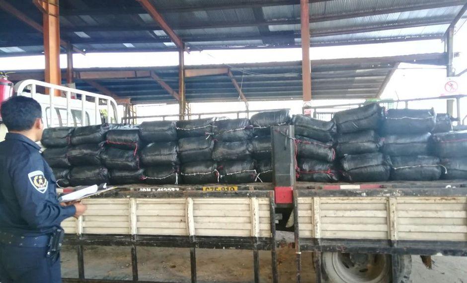 El lote de pescado fue encontrado dentro de un contenedor en sacos de polipropileno. (Foto: Sunat)