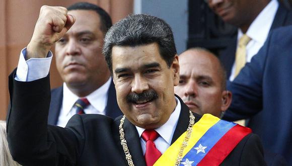 """Venezuela: Nicolás Maduro llama """"gusano despreciable"""" a Juan Guaidó y dice que la justicia le llegará. (AP)."""