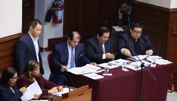 Kenji Fujimori, Bienvenido Ramírez (en la foto) y Guillermo Bocángel podrán brindar sus descargos ante el pleno del Congreso. (Foto: Congreso)