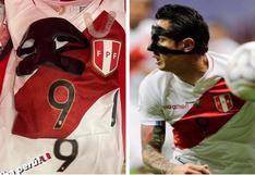 Gianluca Lapadula mostró todos los artículos de protección que utilizó durante el Brasil vs. Perú