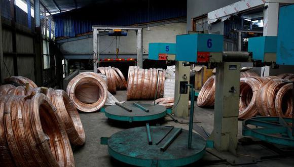El contrato de cobre tocó un pico desde agosto de 2011 a US$9.617 la tonelada el mes pasado. (Foto: Reuters)
