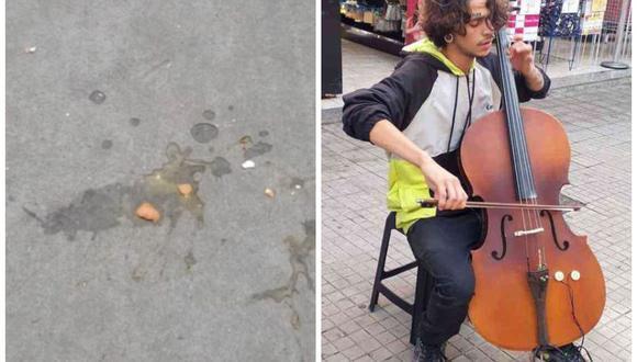 Músico al que le tiraron huevos recibió una beca para estudiar Música en una universidad de Brasil. (Foto: Instagram   salinas.015)