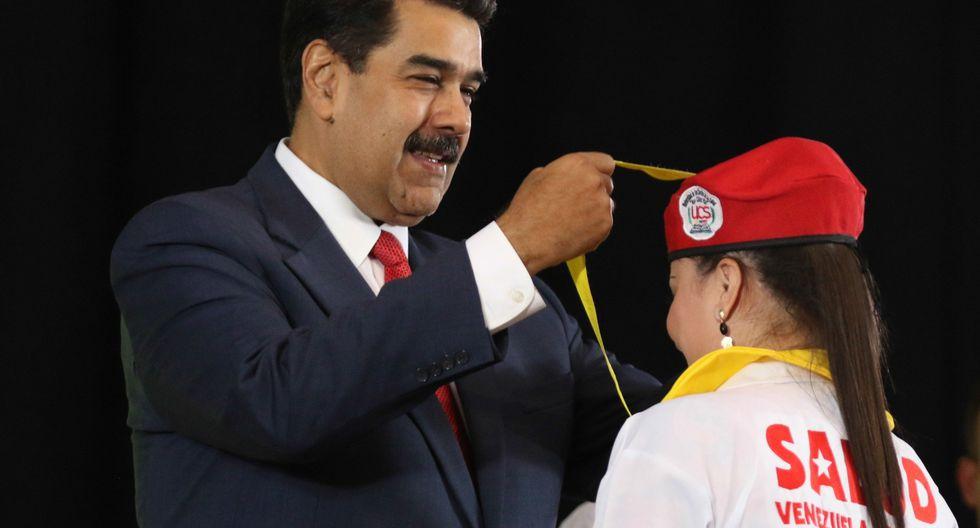 """A Nicolás Maduro """"se le chispoteó"""" al decir que llevó """"500 soldados cubanos"""" a Venezuela. Foto: AFP"""