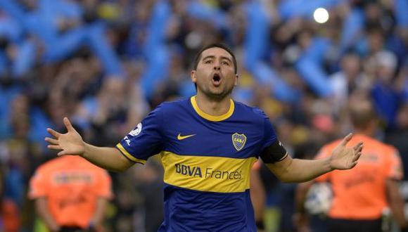 Juan Roman Riquleme tuvo dos etapas en Boca Juniors: de 1996 al 2022 y del 2007 al 2014. (Foto: AFP)