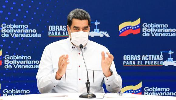Nicolás Maduro durante una conferencia sobre el coronavirus en Caracas, Venezuela. (Foto: EFE/PALACIO DE MIRAFLORES).