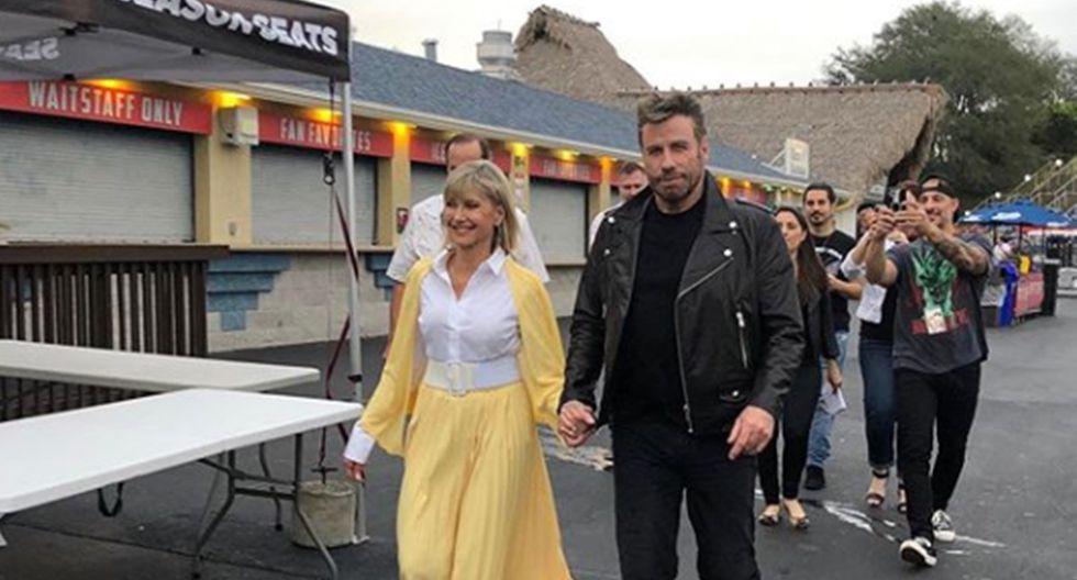 """John Travolta y Olivia Newton-John vuelven a vestirse de """"Grease"""" 40 años después. (Foto: Instagram)"""