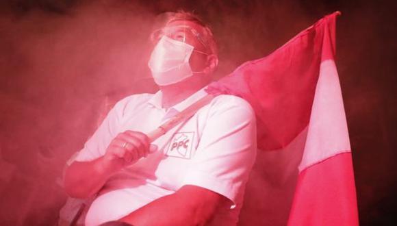 Alberto Beingolea protagonizó una caravana como actividad de cierre de campaña. (Foto: Cesar Campos / @photo.gec)