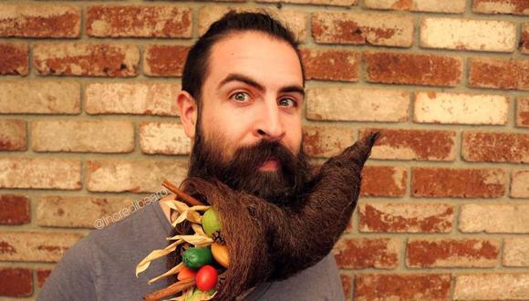 Isaías Webb, conocido como 'Incredibeard', se ha vuelto muy popular en redes sociales por su peculiar barba y los usos que le da a la misma. (Foto: Instagram)