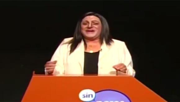 Carlos Álvarez presentó su imitación de Madeleine Osterling