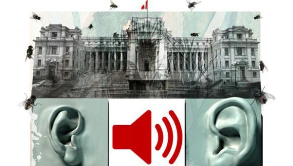 La revelación de audios en torno al Caso Los Cuellos Blancos del Puerto ha tenido diversas consecuencias políticas en el último año. (Ilustración: Giovanni Tazza / El Comercio)