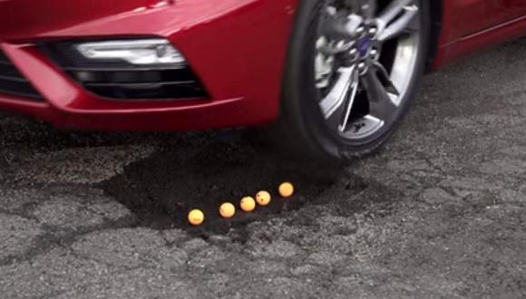 Nueva suspensión 'antibaches' de Ford [VIDEO]