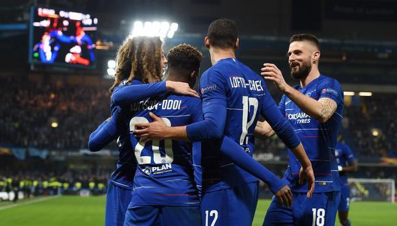 Chelsea goleó 3-0 al Malmo y clasificó a los octavos de final de la Europa League. (Foto: EFE)