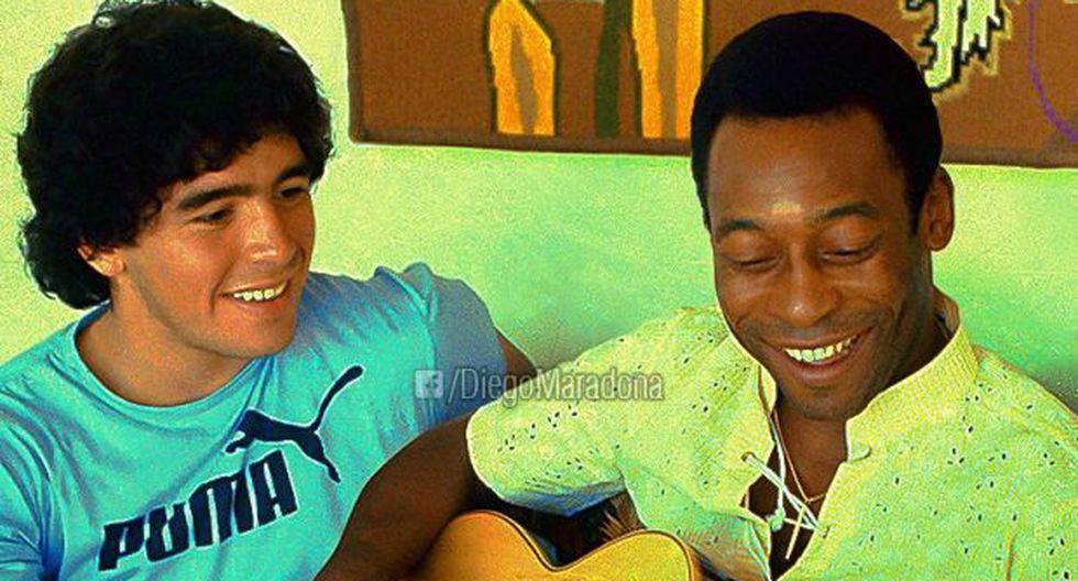 Diego Maradona y Pelé. (Foto: Facebook Diego Maradona)
