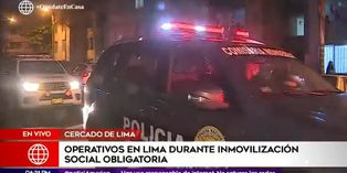 Coronavirus en Perú: PNP realiza operativo en Cercado de Lima