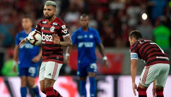 Flamengo sufrió y venció por 4-2 en penales a Emelec en el Estadio Maracaná por la vuelta de los octavos de final de la Copa Libertadores (Foto: AFP)