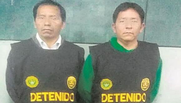 Daniel Pérez Fierro (40) y Marcelino Vicente Palacios Barja (44), chofer y copiloto de la empresa de transportes Palomino, son acusados de violar a terramoza.  (PNP)
